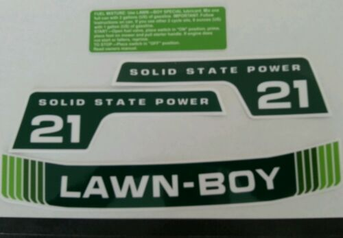 Reproduction lawn boy 4 piece decal set f-series 1978-82 solid state 21 inch.