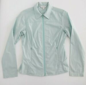 KATHMANDU-Womens-Lightweight-Hiking-Zip-Up-Blouse-Sz-8-Wrinkle-Resistant-Green