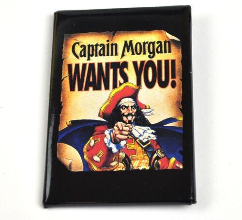 Pin Button USA Lapel Pin Captain Morgan Wants You