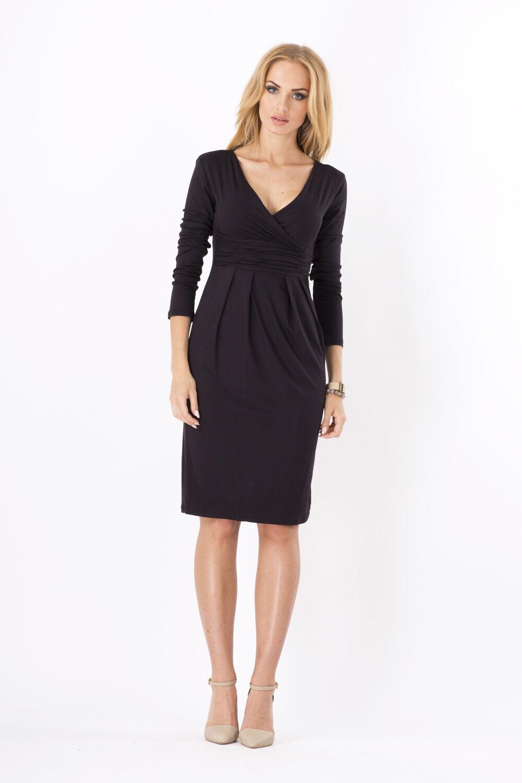 Women/'s Wrap Dress V-Neck Cocktail Jersey Office Bubble dress Size 8-18 6801
