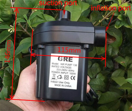 1PCS AC220V 100W Vacuum Suction Pump General Inflation Air Pump Air Bed Swimming