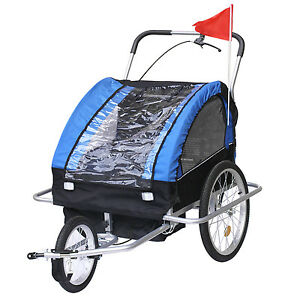 Bike Trailer Blue Instep 2 Seat Child Bicycle Carrier