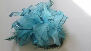 Hair-Band-no-clip-Fascinator-Flower-for-Wedding-Party-with-feathers-amp-glittery