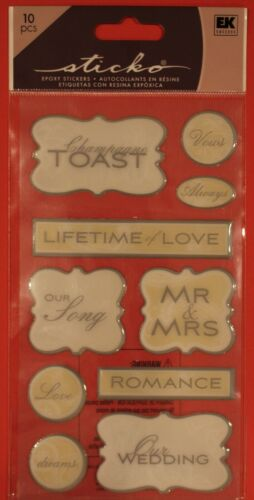 New marriage husband wife wedding honeymoon cross faith scrapbook stickers  NIP