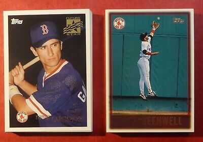 1996 Topps Boston Red Sox Team Set with Roger Clemens /& Nomar Garciaparra 17 Cards