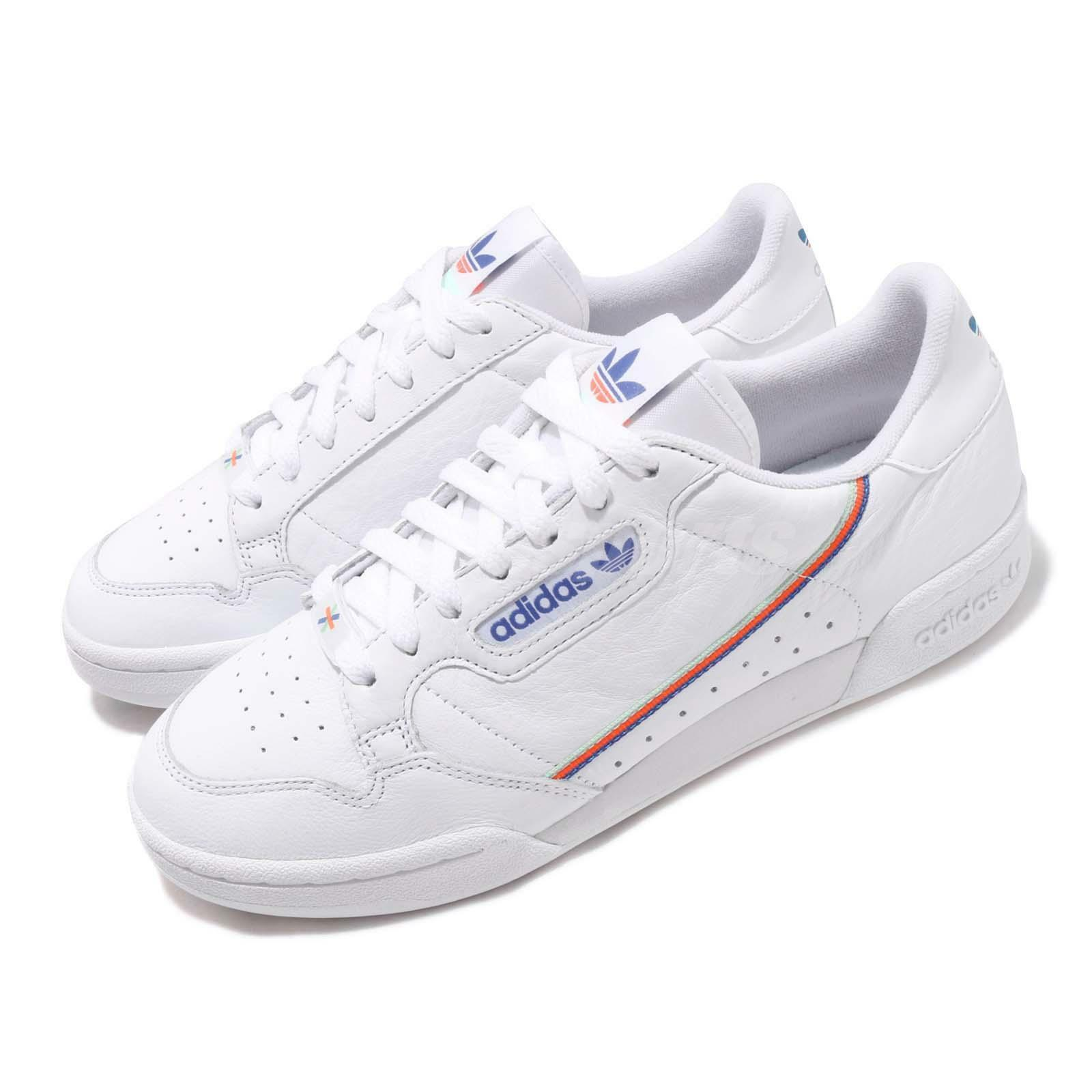 Adidas Originals Continental 80 White bluee Mens Womens Casual shoes EF2820