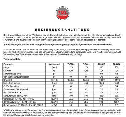 """#191005 3//4/"""" Druckluft-Schlagschrauber 1356 Nm"""