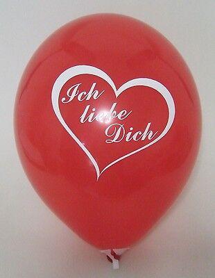 R40F33 XL Helium Folienballon Geschenk Ich Liebe Dich Herz Schlaufe Rot Hochzeit