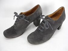 CHIE MIHARA GRAY SUEDE LACE UP HIGH HEELS SHOES WOMEN'S 39.5