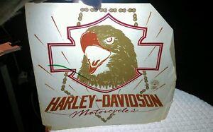 Vintage-1984-Harley-Davidson-Motorcycle-Roach-Eagle-Iron-on-t-shirt-transfer