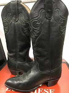 68ccf4d4fcc Details about Larry Mahan Women's Western Boots Dark Green Leather with  4702 size US 6.5