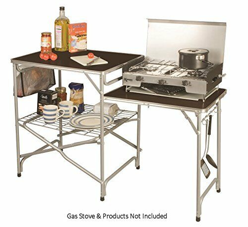 FOLDING CAMPING KITCHEN with side table stand for field colonel kampa