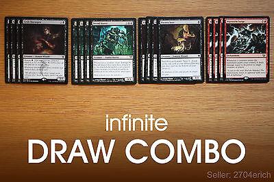 Black Red Deck Infinite Card Draw Combo *English MTG Lot* Dread Surge