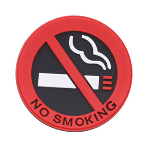 1PCS No Smoking Warning Sticker Rubber Sign Car//Taxi//Home//Office Logo FREE