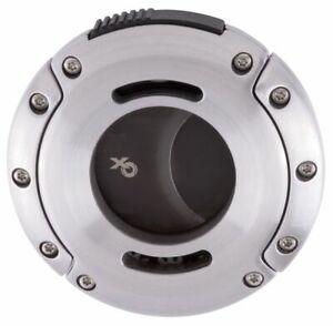 XIKAR-XO-403SL-Double-Blade-Guillotine-Cigar-Cutter-Brushed-Silver-Black-Phantom