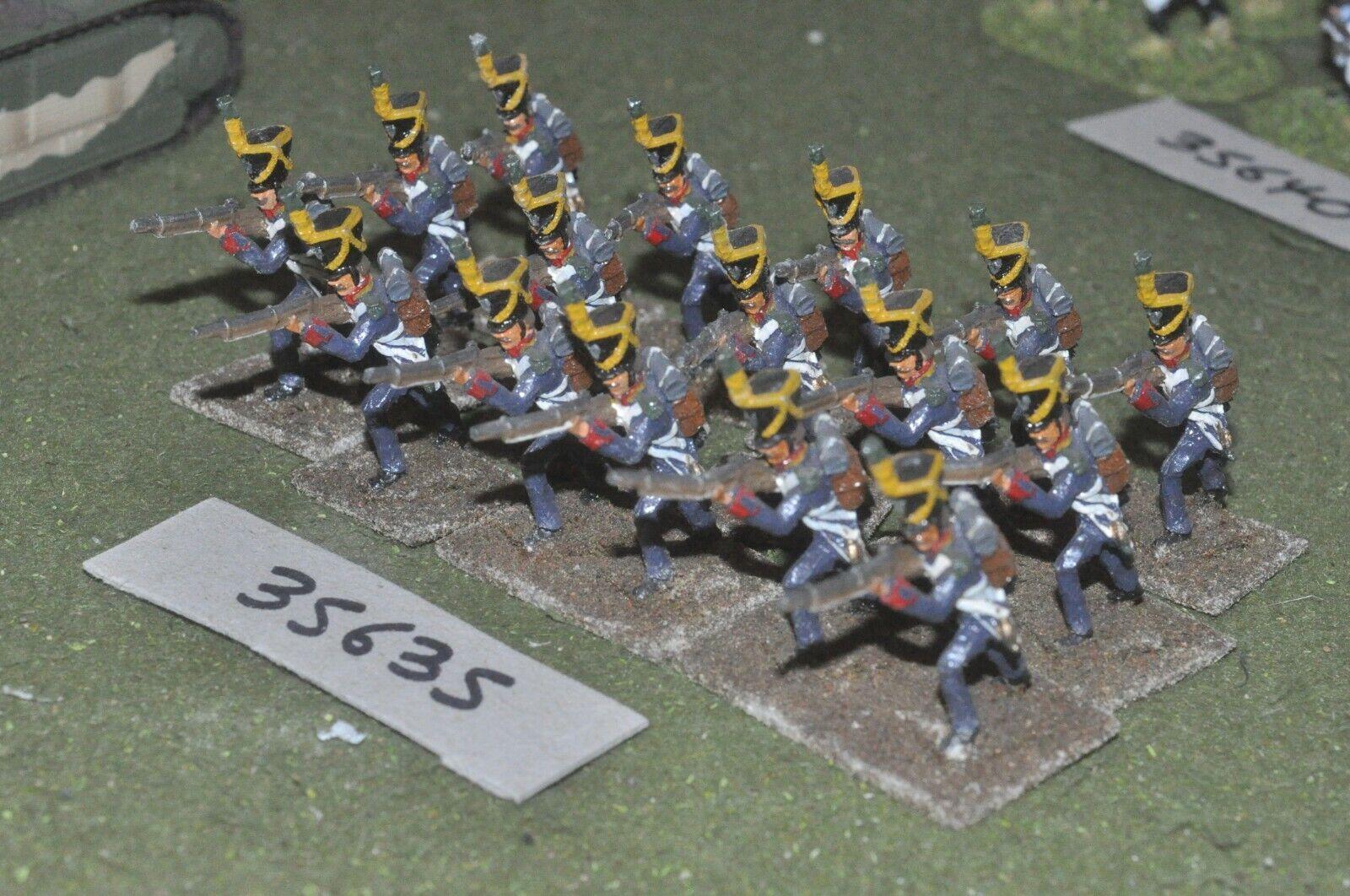 25mm napoleonic   polish - light 16 figures - inf (35635)