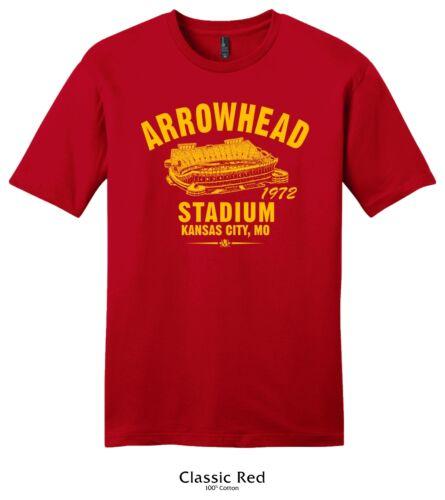Home of the Kansas City Chiefs Arrowhead Stadium 1972 Football Tee Shirt