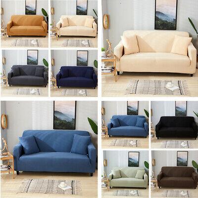 1-4 Seater Sofa Cover Slipcover Elastic Cushion Waterproof Sofa Case Protector