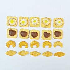 12 Dollhouse Miniature Set of 6 Fried Eggs BD F099 1