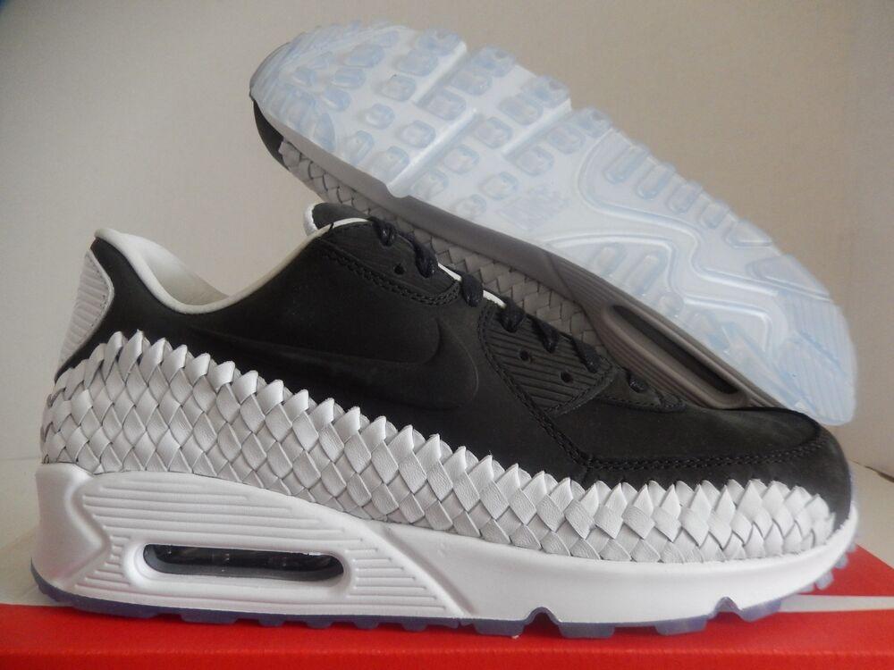 NIKE AIR MAX 90 WOVEN Noir-Noir- blanc  Chaussures de sport pour hommes et femmes