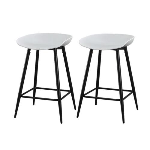 Modern 2x Bar Stools Fabric Barstool Kitchen Pub Stool Breakfast Chair Seat NEW