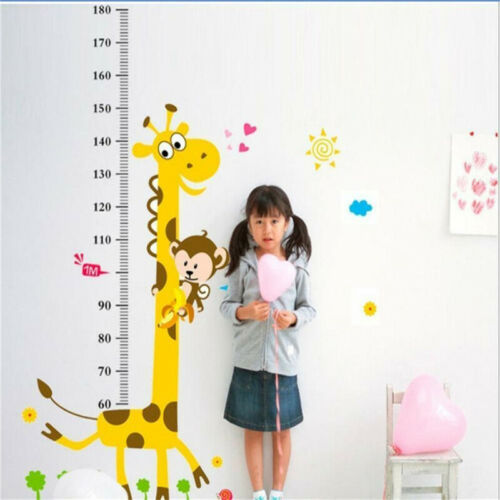 Removable Giraffe Height Chart Measure Wall Sticker Decal for Kids Baby Room