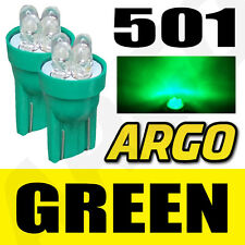 2x XENON BRIGHT GREEN LED NUMBER PLATE LICENCE UPGRADE LIGHT LAMP BULBS