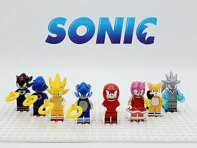 Sonic The Hedgehog Series 8 Minifigures Custom Set USA SELLER-NEW XMAS GIFT