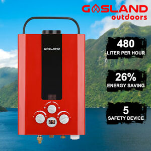 GASLAND-Portable-Gas-Hot-Water-Heater-Outdoor-Camping-Instant-RV-Shower-Red