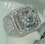 thumbnail 13 - 925 Silver White Topaz Band Ring Woman Men Jewelry Wedding Party Gift Size 6-10