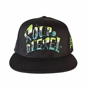 969bd5f1bdb Details about Flat Bill Sour Diesel Custom Hat Humboldt Clothing Fitted  Stretch Fitted 420