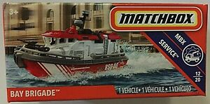 MATCHBOX-DIECAST-RED-WHITE-BAY-BRIGADE-SERVICE-VEHICLE-12-OF-20-SCALE-1-64-NEW