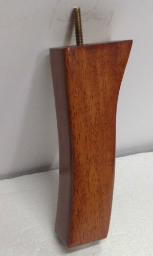 """4 Furniture Legs Feet 8/"""" Wood Sofa Couch Ottoman Chair Cabinet Pecan Finish 3274"""