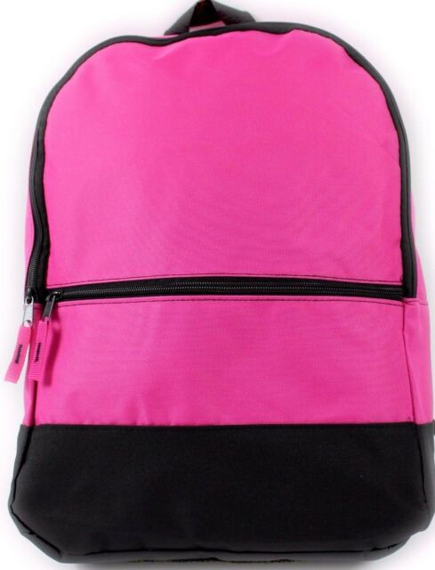 Pink Rucksack Backpack Bag School College Travel Sports Boys Girls Mens Womens