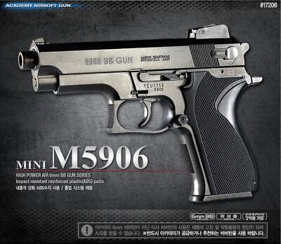 Academy Mini M5906 Airsoft BB Gun Power Pistol Hand Grips Children Military
