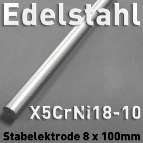 Edelstahl-Stab-Anode Elektrode ⌀8 x 100 mm Elektrolyse Galvanik V2A 1.4301 rund