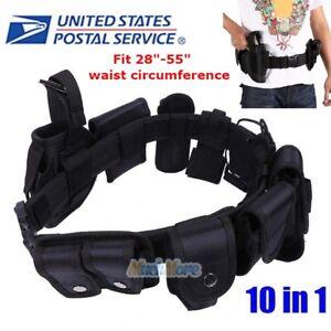 Police Security Guard Modular Enforcement Equipment Duty Belt Tactical 800 Nylon