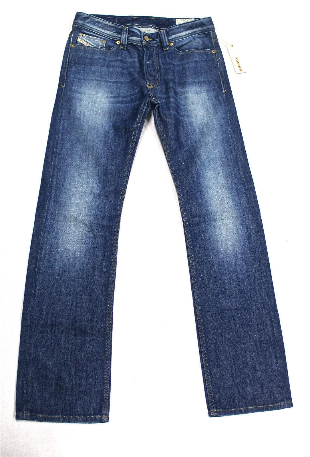 DIESEL Nuovo di Zecca Viker 8X7 Jeans 008X7 29X32 Regular Fit Straight Leg NUOVO CON ETICHETTA