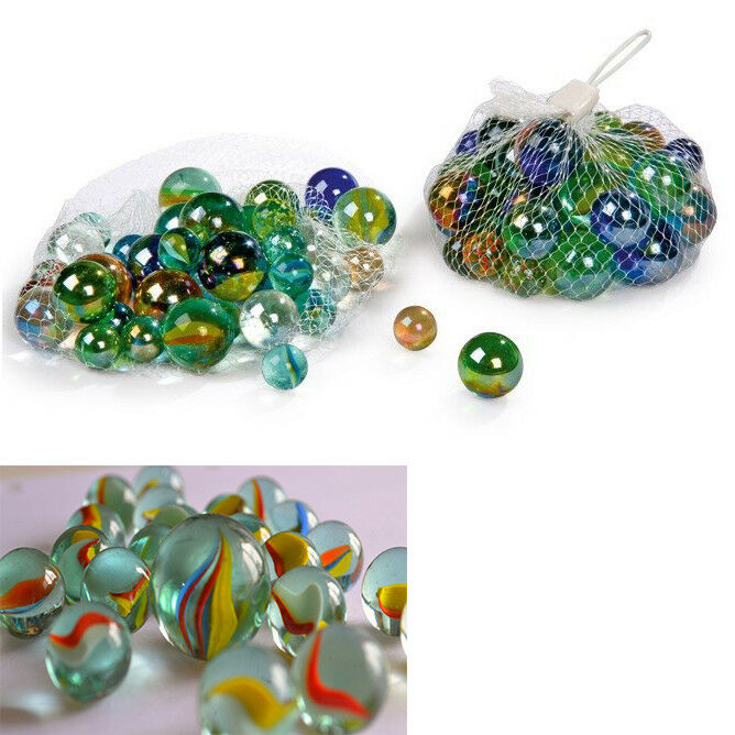 70 Marbles Of Glass Colour For Decorations Home Game Glass Marbles Stones 919