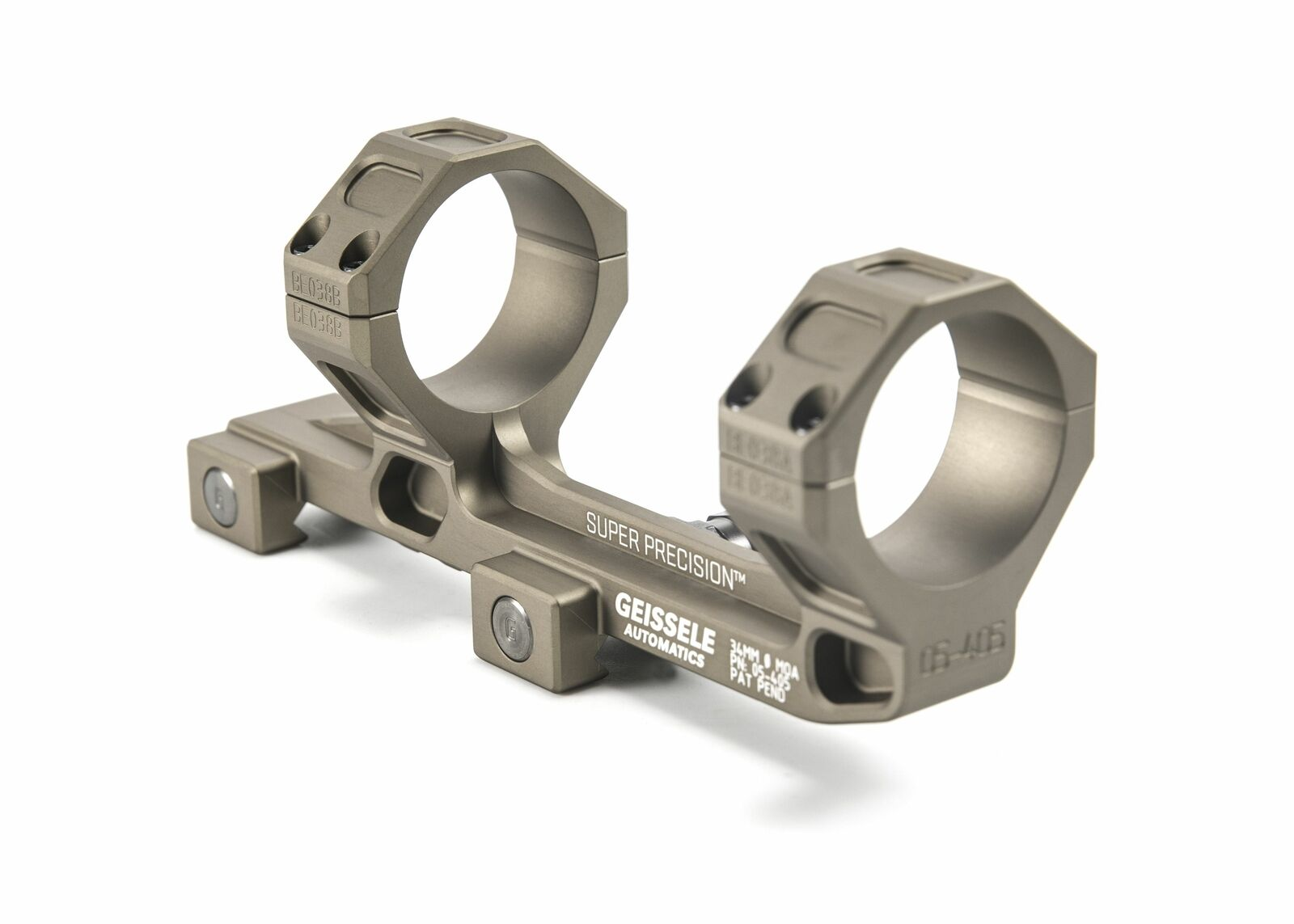 Geissele   Super Precision Series Extended Scope Mount,34mm,7075-T6   05-405S