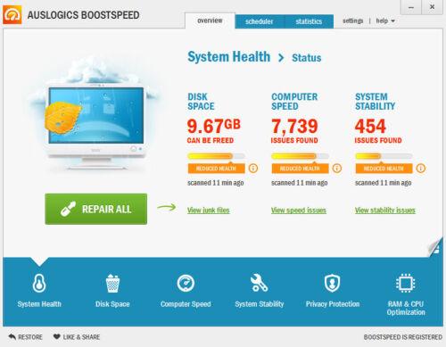 Latest Auslogics BoostSpeed 10 3 PC 1 Yr Registry Optimize Tuneup PC