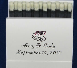 125 personalized matchbooks wedding favors bridal shower custom printed matches