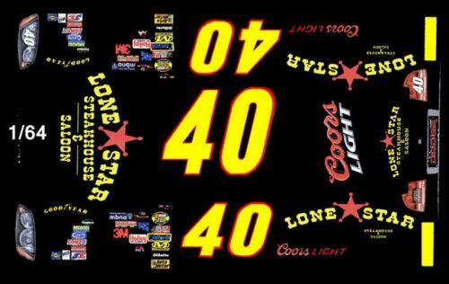 #40 David Stremme Lonestar Steakhouse Dodge 2006 1//64th HO Scale Decals