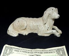 """Antique vtg Albany Foundry SPANIEL Dog Doorstop Paperweight 6.5"""" Original Paint"""