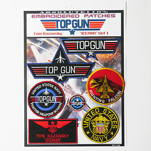 TOP-GUN-034-ICEMAN-034-FANCY-DRESS-Patches-Iron-On-Patch-Mega-Set-064-FREE-POST