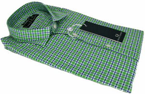 Homme Super Cou Slim Fit Chemise Long Perry Longues Italienne Manches Fred 0x86Eq