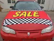 $ CAR DEALER LOT HOOD COVER BANNER ADVERTISE  ~ SALE in red