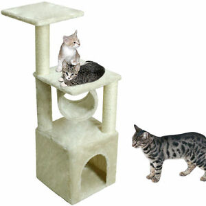 "Deluxe Cat Tree 36"" Condo Furniture Scratching Post Kitten Pet Play Toy House UB"