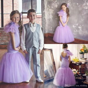 Details about 2019 Sexy Mermaid Baby Girl Birthday Party Dress Flowers Kids  Pageant Prom Dress
