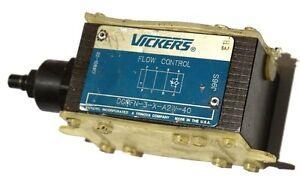 NEW VICKERS DGMFN-3-X-A2W-40 FLOW CONTROL MODULE DGMFN3XA2W40